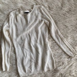 Rachel Zoe Knit Cream Sweater Cotton Blend Size M